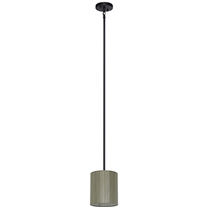 Lyell Forks Ebony Bronze One Light 7-Inch Mini Pendant with Toffee Crunch Shade