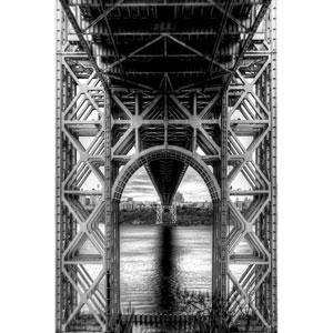 Under a Bridge Metal Wall Art