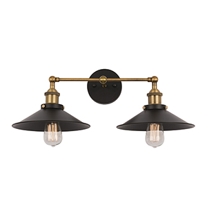 Aharon Collation Dark Grey Two-Light Wall Sconce