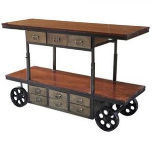 Mango Wood and Iron Cart