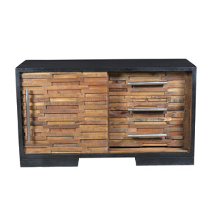 Black and Natural Media Console
