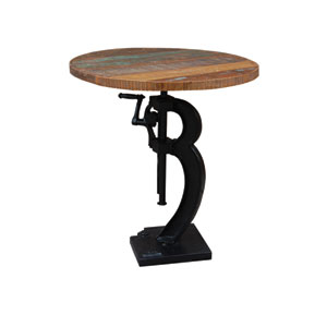 Antique Black Adjustable Pub Table
