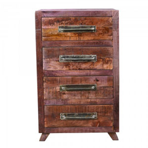 Rustic Brown Four-Drawer Chest