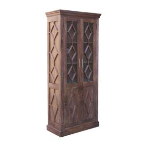Soft Dark Brown Display Cabinet