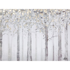 Grey and Yellow Trees: 40 x 28-Inch Wall Art