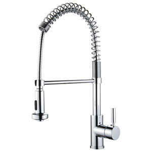 Spring Pull-Out Polished Chrome Kitchen Faucet