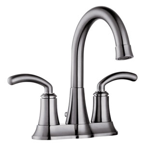 Brushed Nickel Two Handle 4-Inch Centerset Lavatory Faucet w/ Pop-Up Drain