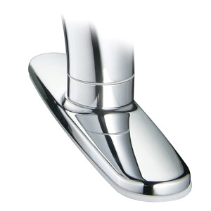 Polished Chrome 8-Inch Wide Base Plate For YP77KPO