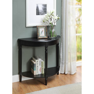 French Country Black Entryway Hall Table