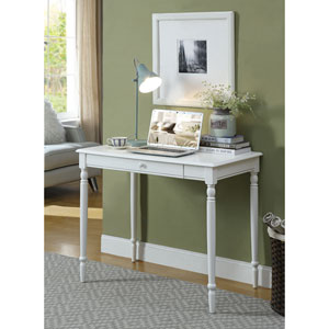 French Country White 30-Inch High Desk