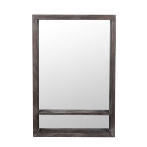 Gray Wash Wood 5-Inch RectangularWall Mirror