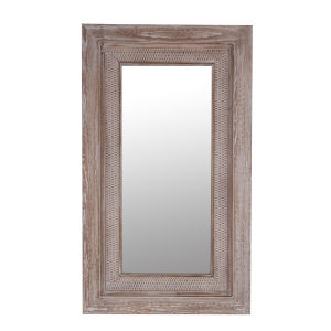 Natural Wood 2-Inch Wall Mirror
