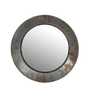 Silver 24-Inch Round Wall Mirror