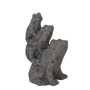 Gray 9-Inch Ceramic Frog Figurine