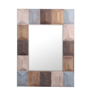 Brown 42-Inch Wall Mirror