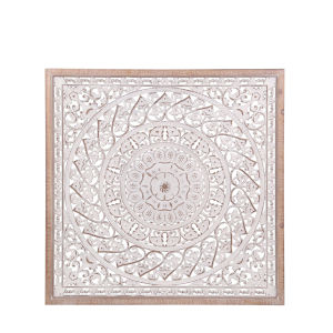 Off White Wood 2-Inch Carved Wall Décor
