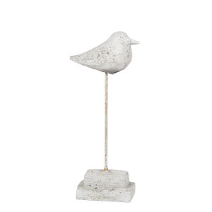 Cement 13-Inch Bird Decorative Object