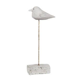 Cement 11-Inch Bird Decorative Object