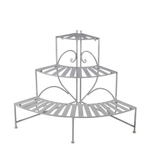 White Three-Tier Adjustable Plant Stand