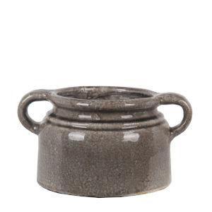Gray 9-Inch Ceramic Vase