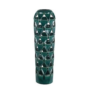 Pierced Green 6-Inch Ceramic Vase
