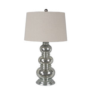 Mercury Glass 20-Inch Table Lamp