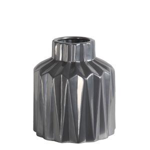 Silver 7-Inch Ceramic Vase