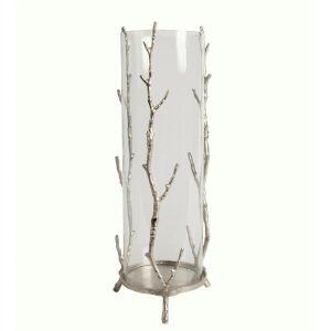 Silver Aluminum 16-Inch Candleholder