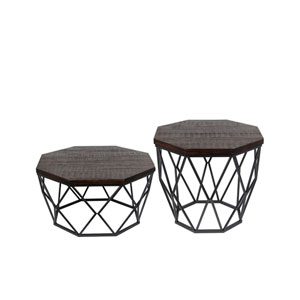 Dark Brown Table, Set of Two