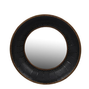 Black Large Metal Wall Mirror