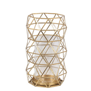 Gold Leaf Large Candle Holder