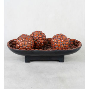 Red Bowl with Spheres