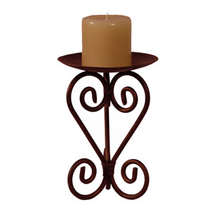 Bronze 11-Inch Candle Pillar