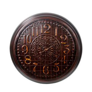 Copper Metal Wall Clock