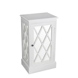 Pure White One Door Mirror Stand