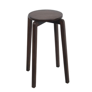 British Brown Stackable Accent Stool