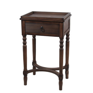 British Brown One-Drawer Accent Table