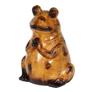 Orange Medium Ceramic Frog