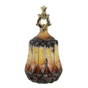Aged Yellow Small Ceramic Vase