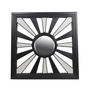 Black and White Square Mirror