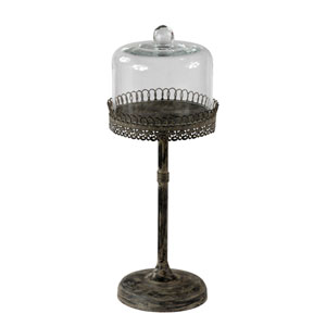 Aged Black Medium Candleholder
