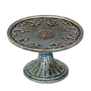 Antique Blue Small Ceramic Cake Plate