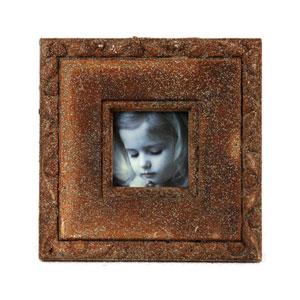 Brown Ceramic Photo Frame