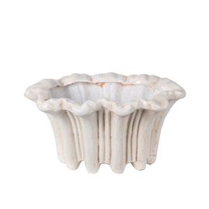 White Ceramic Flower Vase
