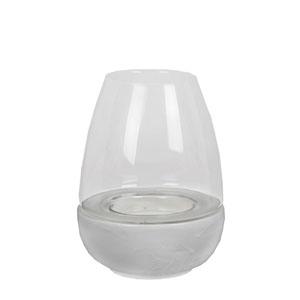 White Large Ceramic Candleholder