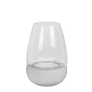 White Medium Ceramic Candleholder
