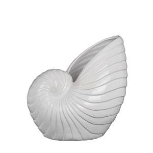 White Medium Ceramic Seashell