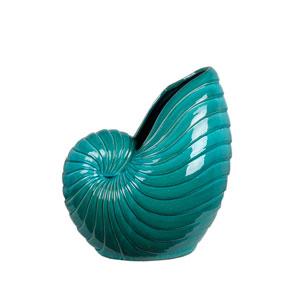 Turquoise Medium Ceramic Seashell