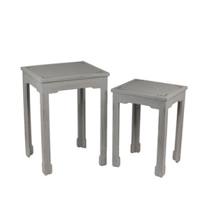 Shagreen Tables, Set of Two