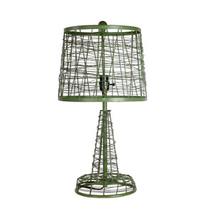 Green One-Light 24.5-Inch Tall Iron Table Lamp